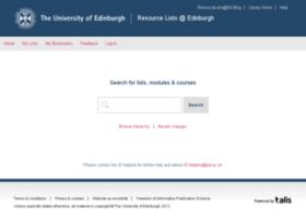 resourcelists.ed.ac.uk