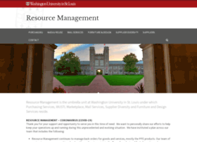 resourcemanagement.wustl.edu