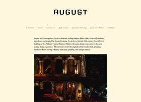 restaurantaugust.com