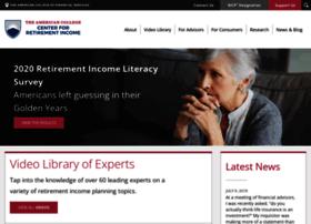 retirement.theamericancollege.edu