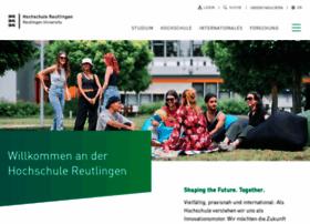 reutlingen-university.de