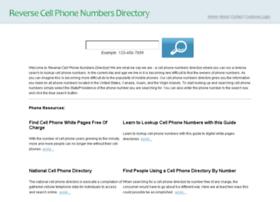 reversecellphonenumbersdirectory.com