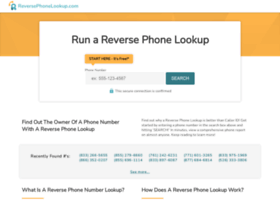 reversephonelookup.com
