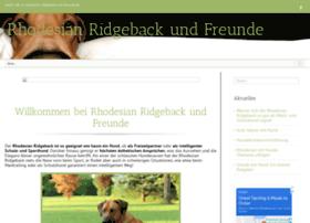 rhodesian-ridgeback-und-freunde.de