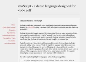 rhoscript.com