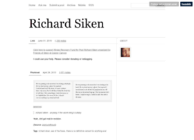 richardsiken-poet.tumblr.com