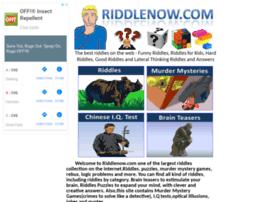 riddlenow.com
