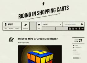 ridinginshoppingcarts.com