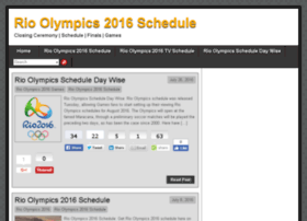 rioolympics2016schedule.org