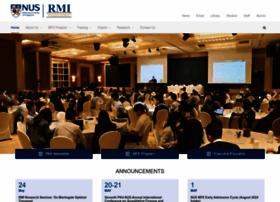 rmi.nus.edu.sg