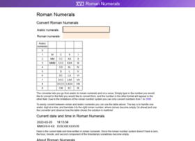 roman-numerals.info