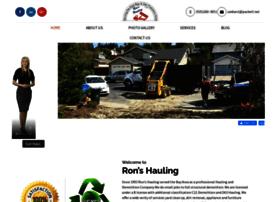 rons-hauling.com