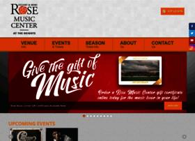 rosemusiccenter.com