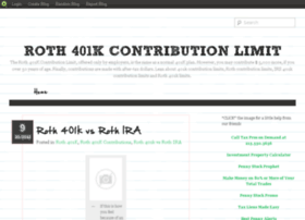 Roth401kcontributionlimit.blog.com
