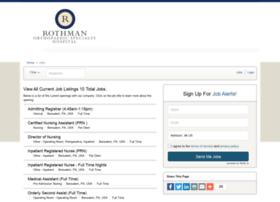 rothmanspecialtyhospital.iapplicants.com