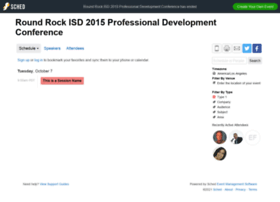 roundrockisd2015professionaldeve.sched.org