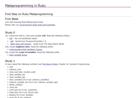 ruby-metaprogramming.rubylearning.com