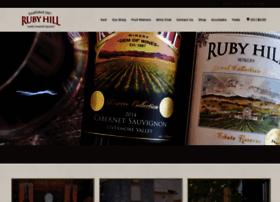 rubyhillwinery.net