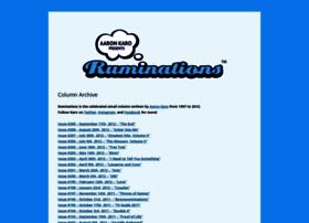 ruminations.aaronkaro.com