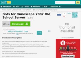 runescape-old-school-2007-server-bot.soft112.com
