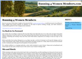 running4womenmembers.com