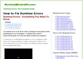 runtimeerrorsfix.com