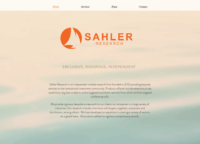 sahlerresearch.com