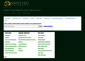 saintleo.libguides.com