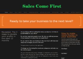 salescomefirst.com