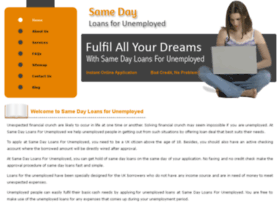 samedayloansforunemployed.org.uk