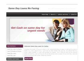 samedayloansnofaxing.org.uk
