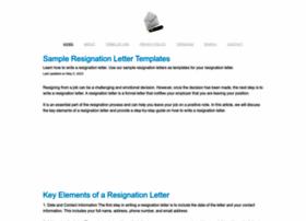 Sample-resignation-letters.com