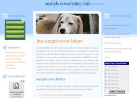 samplecoverletter.info