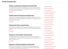 samplequestionnaire.com