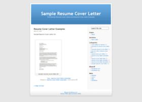 Sampleresumecoverletter.wordpress.com