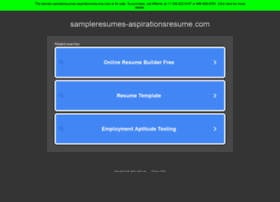 sampleresumes-aspirationsresume.com