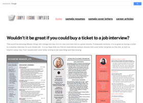 sampleresumetemplates.com