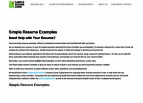 sampleresumezone.com