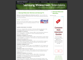 samsungtvs.widescreentelevisions.co.uk