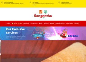 sangeethavegrestaurants.com
