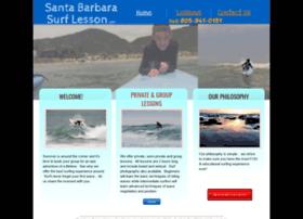 santabarbarasurflesson.com