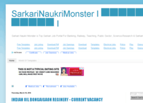 sarkarinaukrimonster.com