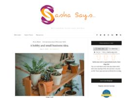 sasha-says.com