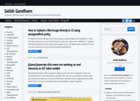satishgandham.com
