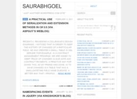 saurabhgoel.wordpress.com