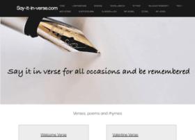 say-it-in-verse.com