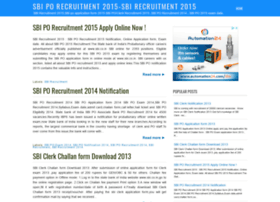 sbi-po-recruitment.blogspot.in