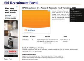 sbirecruitmentportal.com