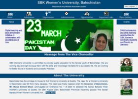 sbkwu.edu.pk