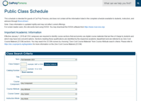 schedule.cpp.edu